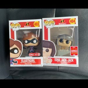 Elastigirl & Edna Jack-Jack-Funko Pop! Set of 2